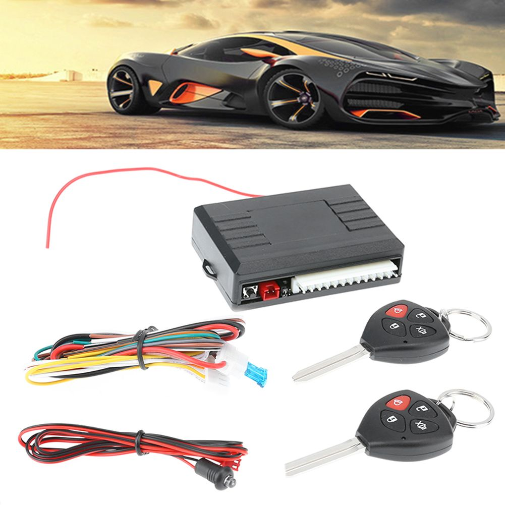Lowest Price Black 12V Car Vehicle Burglar Alarm Keyless Lock Entry Security System  Locking with Remote Control