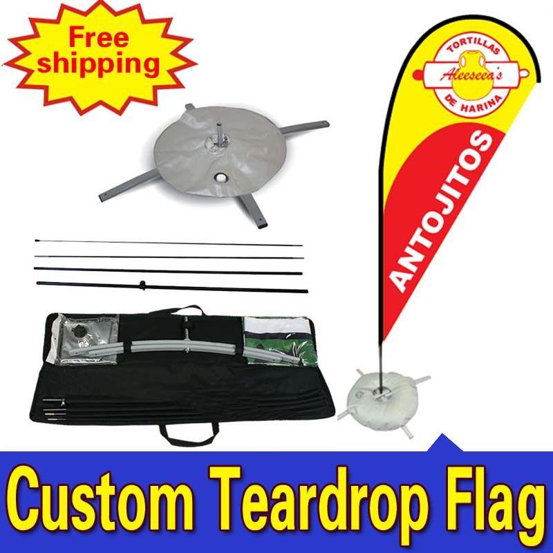68 см * 260 см пользовательские trade show отображает односторонняя печать Teardrop баннеры, флаги с Креста воды мешок любой дизайн Цвет логотип