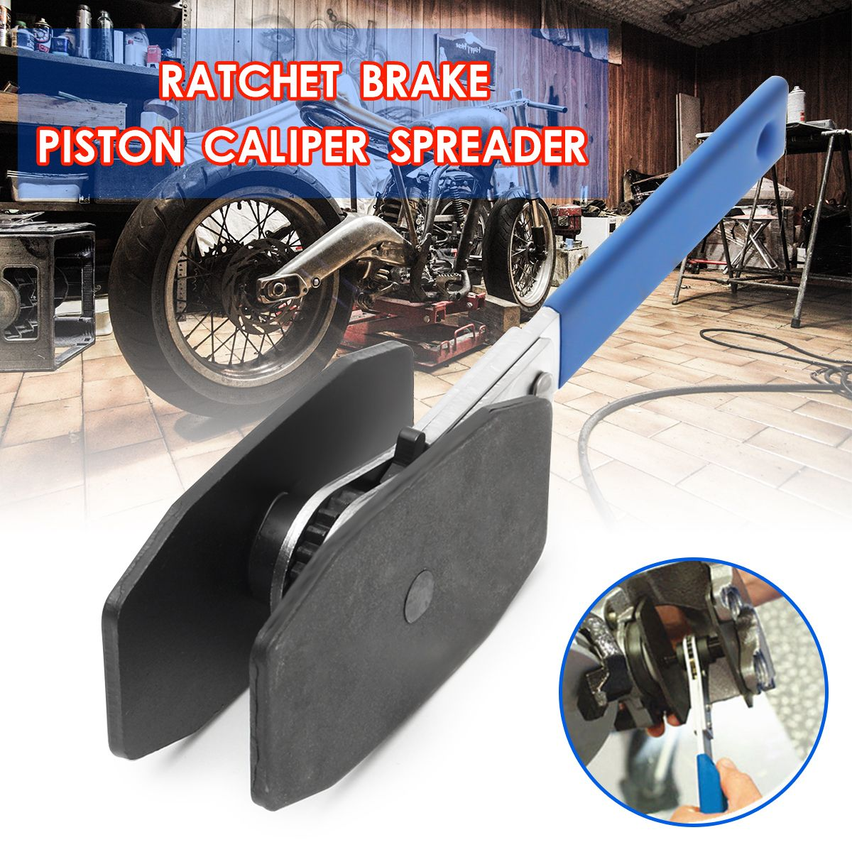 2018 Universal Car Ratchet Brake Piston Caliper Spreader Tool Brake Caliper Press Twin Quad Separator Pad Install Tool