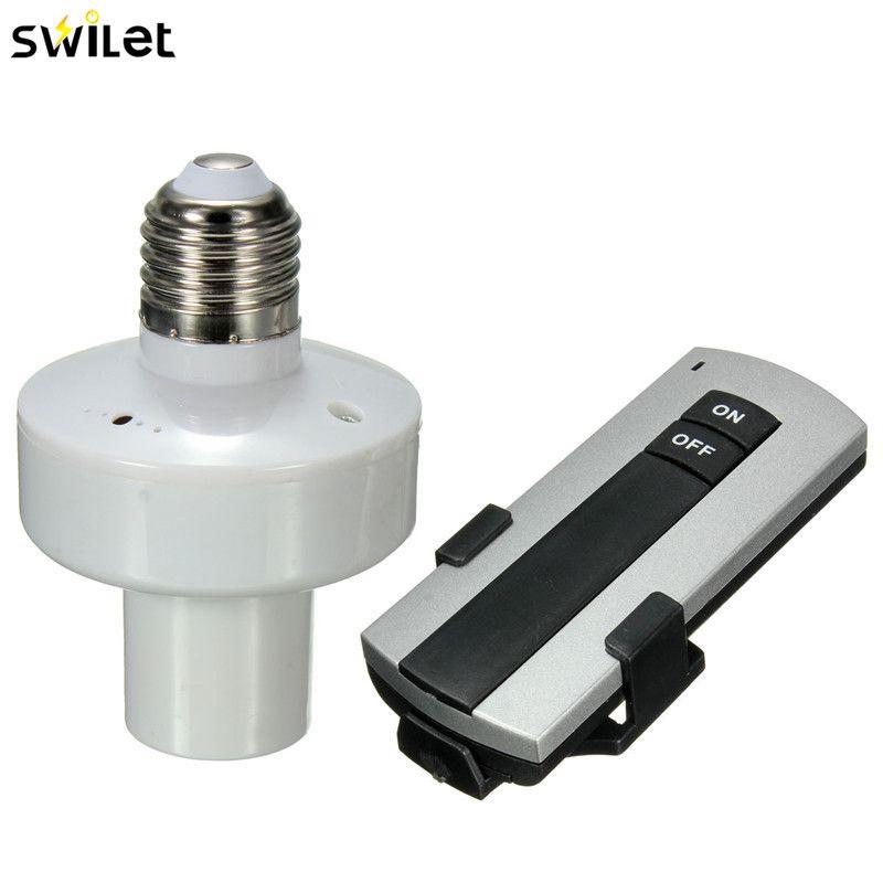 Neueste Haltbare E27 Schraube Drahtlose Fernbedienung Licht Lampe Halter Kappe Sockel Schalter Neue On Off