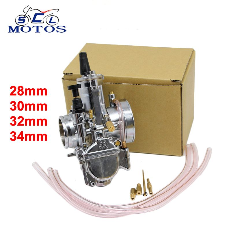 Sclmotos -Motorcycle Carburetor 28 30 32 34mm PWK OKO Carb With Power Jet Fit Race Scooter ATV Racing For 4T Engine Power