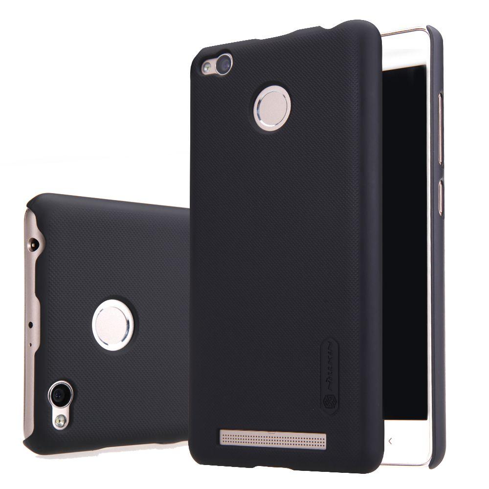 Nillkin téléphone sac cas pour xiaomi redmi 3 pro/redm3s 3 s pc cas dur en plastique de couverture arrière pour redmi 3 pro + Cadeau Écran protecteur