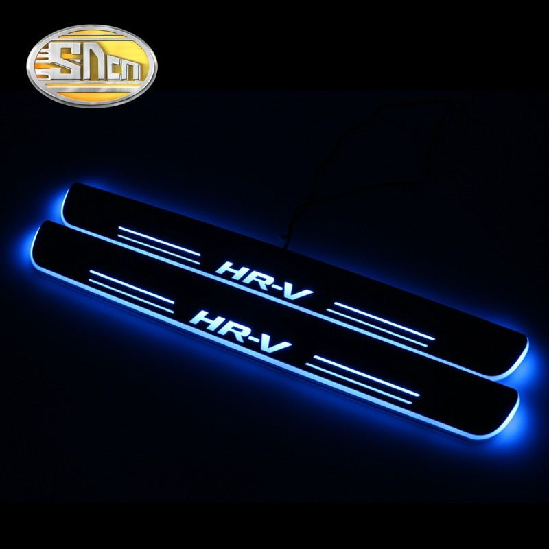 SNCN Waterproof Acrylic Moving LED Welcome Pedal Scuff Plate Pedal Door Sill Pathway Light For Honda HRV HR-V 2015 - 2017 2018