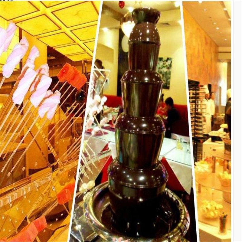 220V/110V 5 Layers Electric Commercial Electric Chocolate Fountain Machine Chocolate Waterfall Machine EU/AU/UK/US Plug