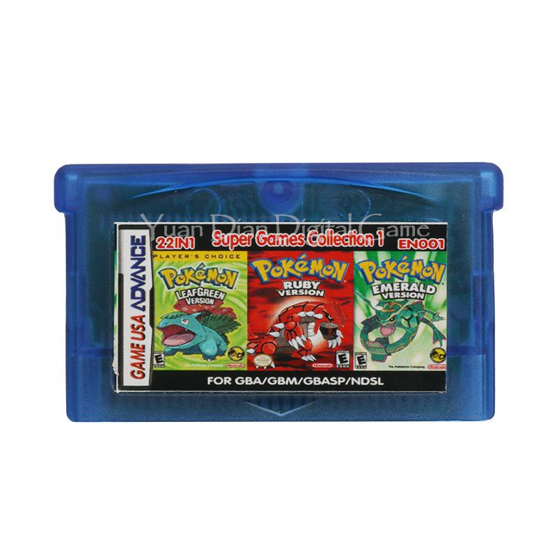 Nintendo GBA Video Game Cartridge Console Card Collection English Language EN001 22 in 1