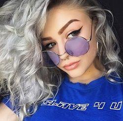 2018 Круглые Солнцезащитные очки женские красные, желтые, синие, зеленые прозрачные линзы солнцезащитные очки для женщин маленькие хип-хоп со...