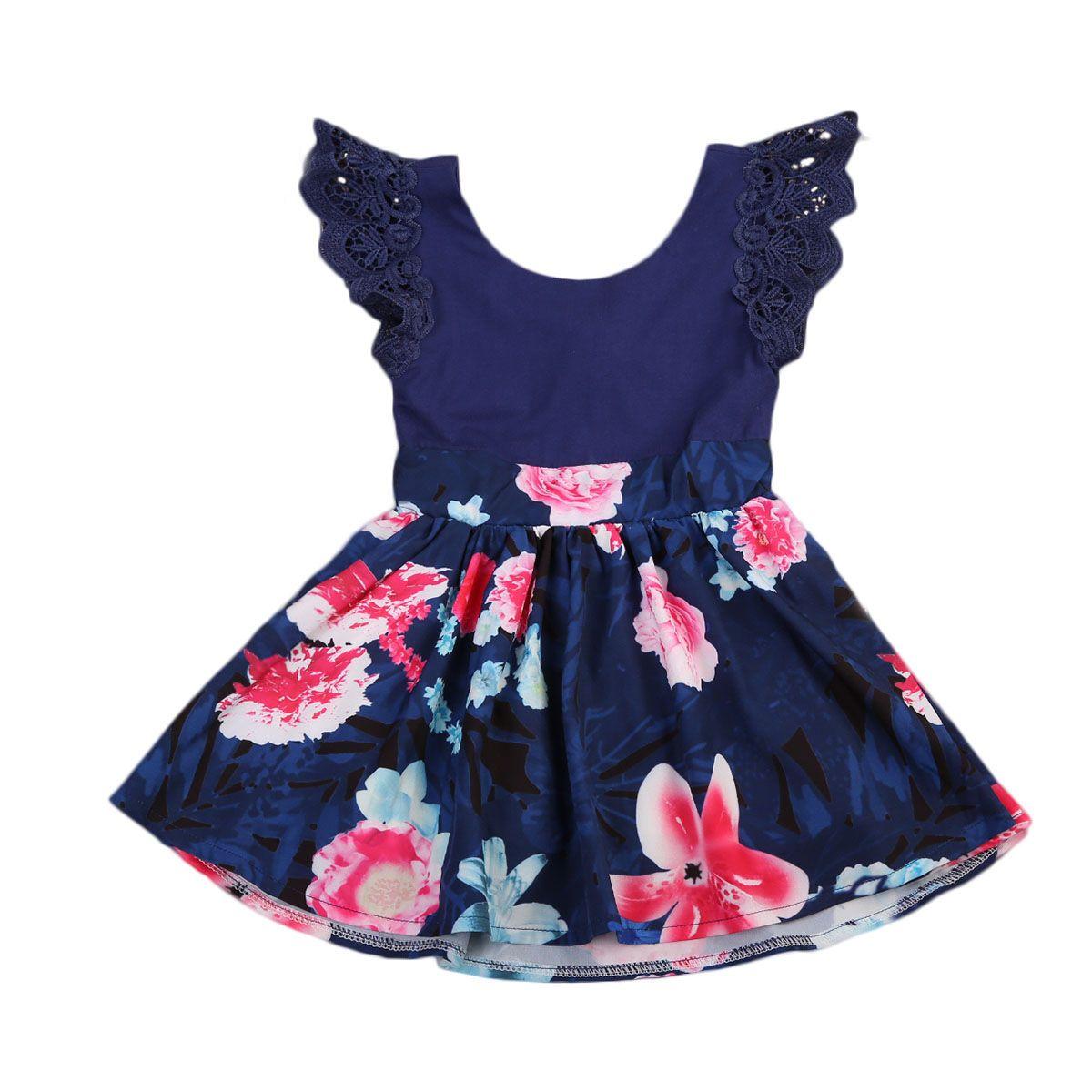 Hija de la madre de La Flor A Juego Vestidos de Mujeres Niños Niñas de Encaje Sin Mangas Floral Vestido de Fiesta de Verano Vestido de Tirantes Trajes A Juego