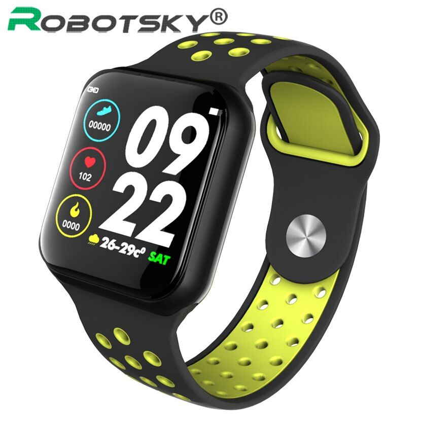 Robotsky F8 Smartwatch IP67 Waterproof Heart Rate Blood Pressure Women Men Sport Smart Watch S226 Smart Bracelet For Android IOS