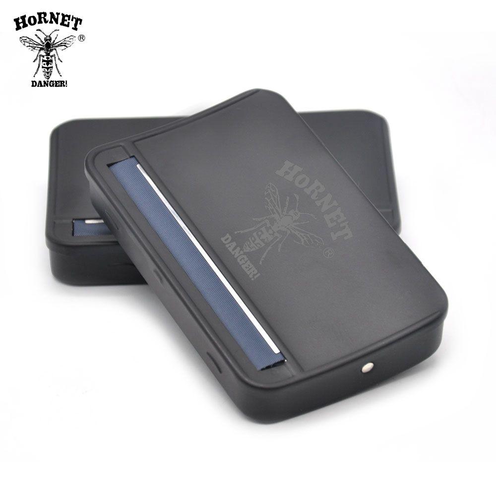 1 pièces noir métal rouleuse fumoir caisse rouleuse boîte pour 110mm papiers Cigarette Maker rouleau main rouleau