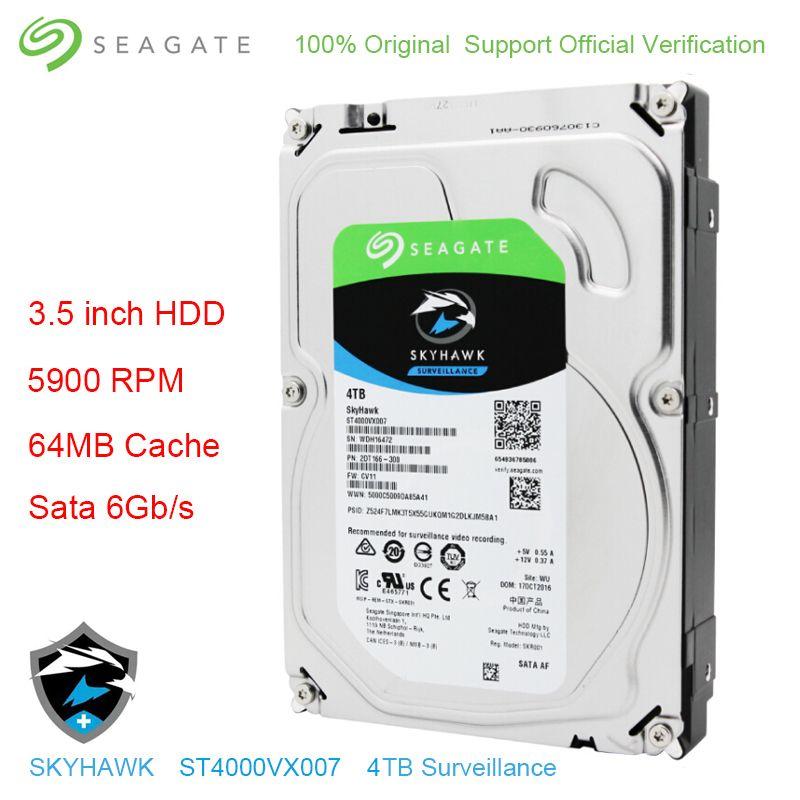Original Seagate Interne 4 tb HDD Skyhawk Video Überwachung Festplatte Festplatte 3,5