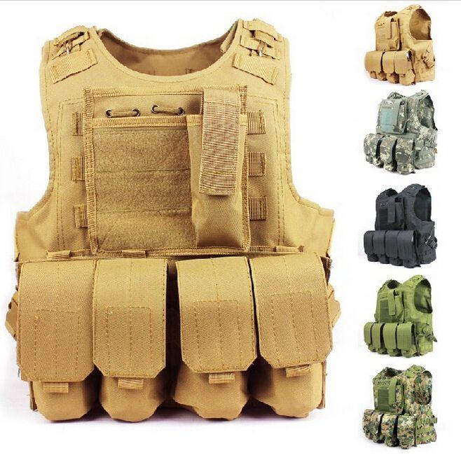 1000D Hunting Vest Tactical Assault Modular Military Molle Vest Amphibious Combat Paintball Camouflage Tactical Vest