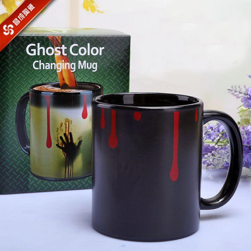 Neue The walking dead Becher farbwechsel Wärmeempfindlicher Keramik 11 unze kaffeetasse überraschung geschenk