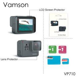 Vamson for Gopro hero 5 Accessories lens Screen Protector Cover Lens Protecive Film For Gopro hero5 Action Camera VP710