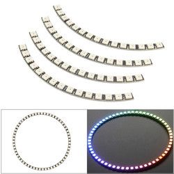 Ring Wall Clock 60 X Ultra Bright WS2812 5050 RGB LED Lamp Panel with Integrated Drivers