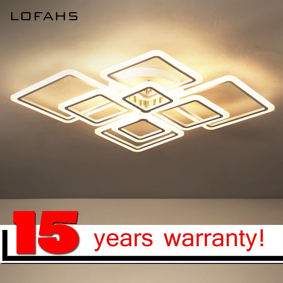 LOFAHS Modern acrylic LED ceiling light Overlapping frames large luxury ceiling lamp for living dining bed room luster avize