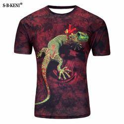 3D hombres camiseta Animal manga corta algodón o-cuello Groot Tiedye personalizada camiseta impresa agua Teet camisa hombres ropa Fortnite