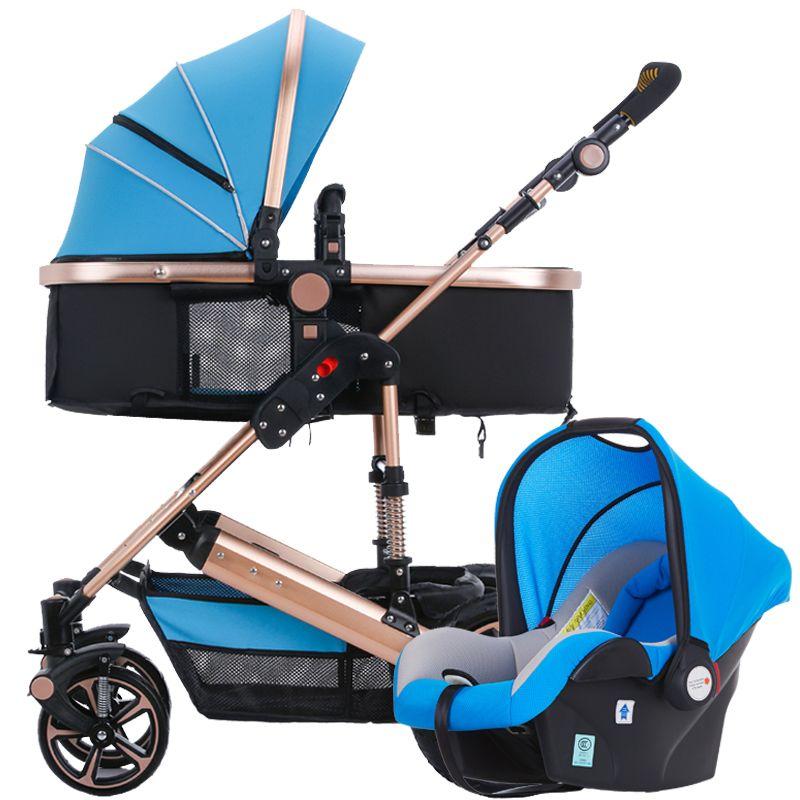 Yibaolai Высокая Пейзаж детская коляска может сидеть и лежать портативный складной двойного назначения Корзины Детские корзину