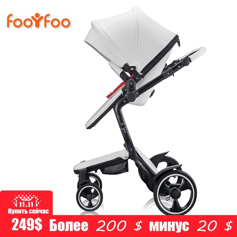 foofoo Luxury <font><b>high</b></font> landscape shock strollers can sit reclining stroller baby stroller two-way dual summer and w inter