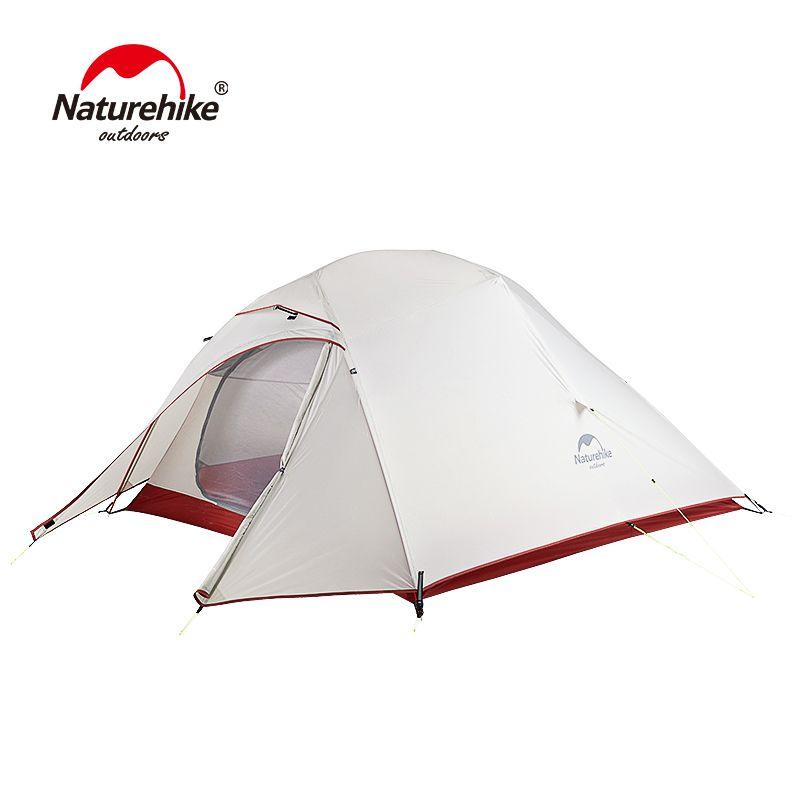 Naturel randonnée libre auto debout 20D Silicone tente Double couches 1 2 3 personne ultra-léger en plein air Camping tente nuage UP mis à jour