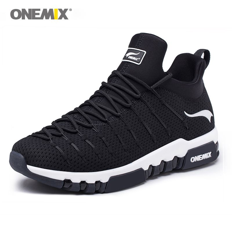 NEW Onemix Men's Running Shoes Breathable Sneakers For Men light breathable soft insole for outdoor trekking running sneakers