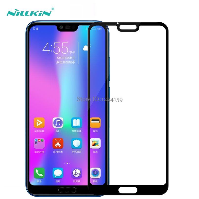 Pour Huawei Honor 10 verre trempé Nillkin CP + couverture complète protecteur d'écran pour Huawei Honor 10 verre de protection 5.84 pouces
