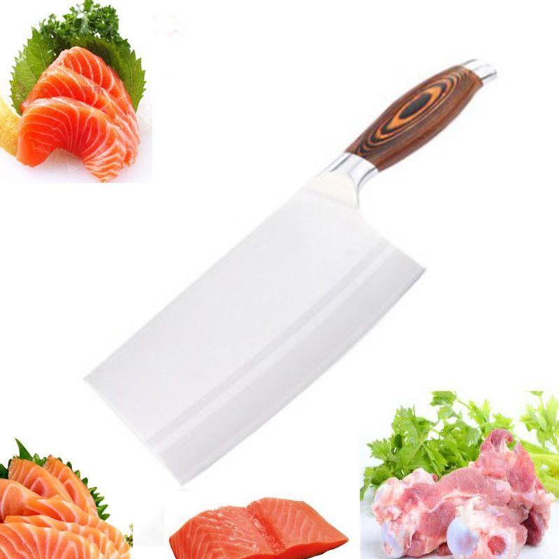 LDZ 9Cr15MoV acier inoxydable Kitcchen Chef couteau Sharp japonais couteaux de cuisine viande fruits légumes couperet outils de cuisson
