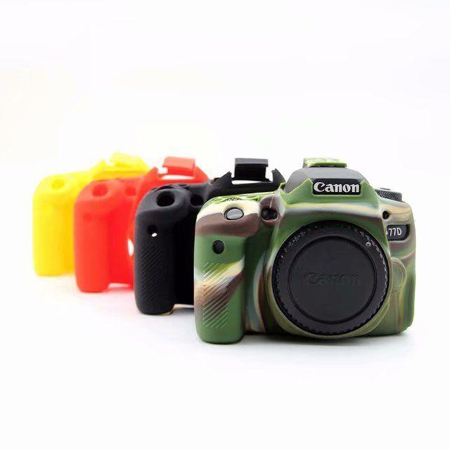 Belle peau de boîtier de protection en caoutchouc Silicone souple pour Canon 5D Mark III 5D3 5D4 6D 6D2 70D 77D 200D sac photo