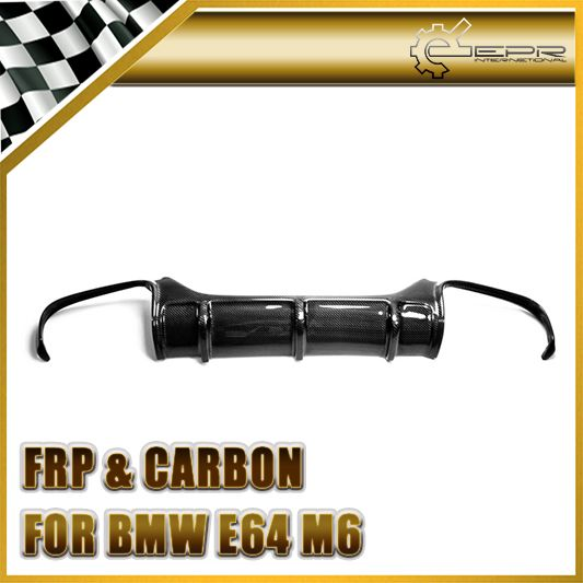 Car-styling For BMW E63 E64(Soft top) M6 Carbon Fiber Vorsteiner Style Rear Diffuser Glossy Fibre Bumper Body Kit Accessories