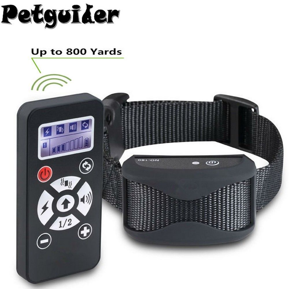 2 In 1 Pet Dog Training Collar Anti Bark Stop Collar Interchangeabl Remote Control Waterproof Rechargeable Automatic E Collar
