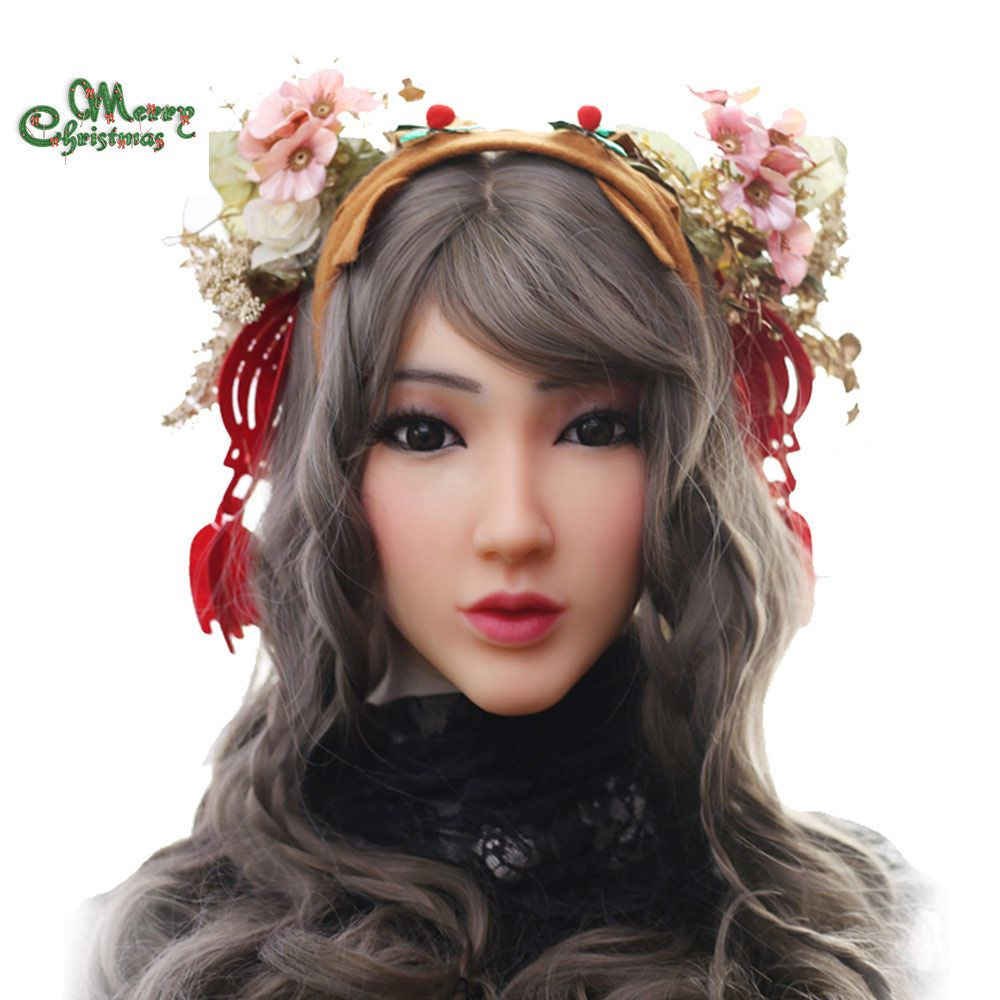 EYUNG Christina angel face realistic silicone female masquerade Halloween cosplay drag queen crossdresser Cover facial scars