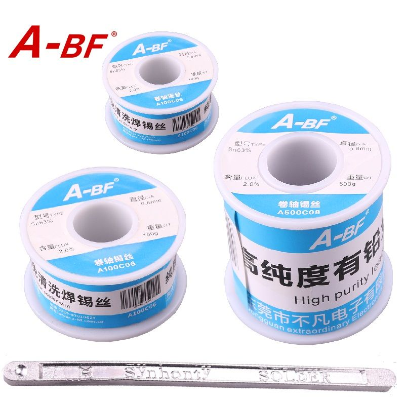 A-BF 63/37 Tin Lead Rosin Core Solder Wire flux Electrical Soldering iron solder pen soldring pot solder bar 50g 100g 500g