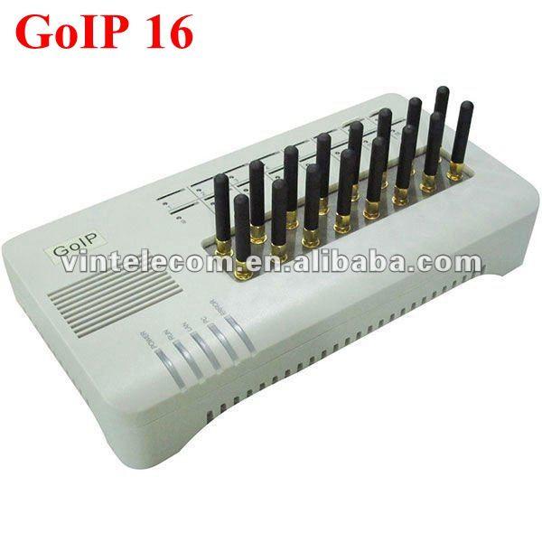 16 SIM Karten Kanal DBL GOIP16 VOIP GSM Gateway 16 Chips GOIP IMEI ändern unterstützung sim bank (mit kurzen antennen)-heißer verkauf