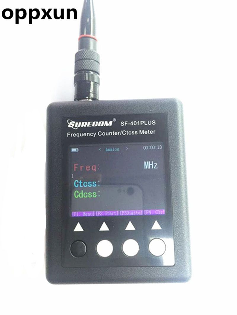OPPXUN SF401 plus Frequency meter Radio Frequency Counter 27Mhz-3000Mhz Portable Frequency meter SF-401 CTCCSS/DCS Decoder