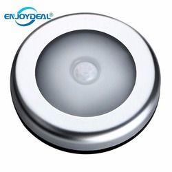 1 unid 6LED PIR cuerpo Sensor de movimiento activado luz de pared luz de la noche de la lámpara de inducción armario gabinete corredor Sensor de luz led batería