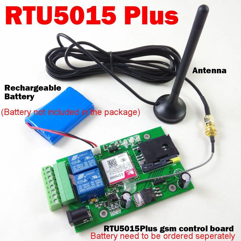 Rtu5015 Plus GSM puerta abridor batería de reserva opcional para alarma de fallo de alimentación interruptor del relé Control DE ACCESO Junta