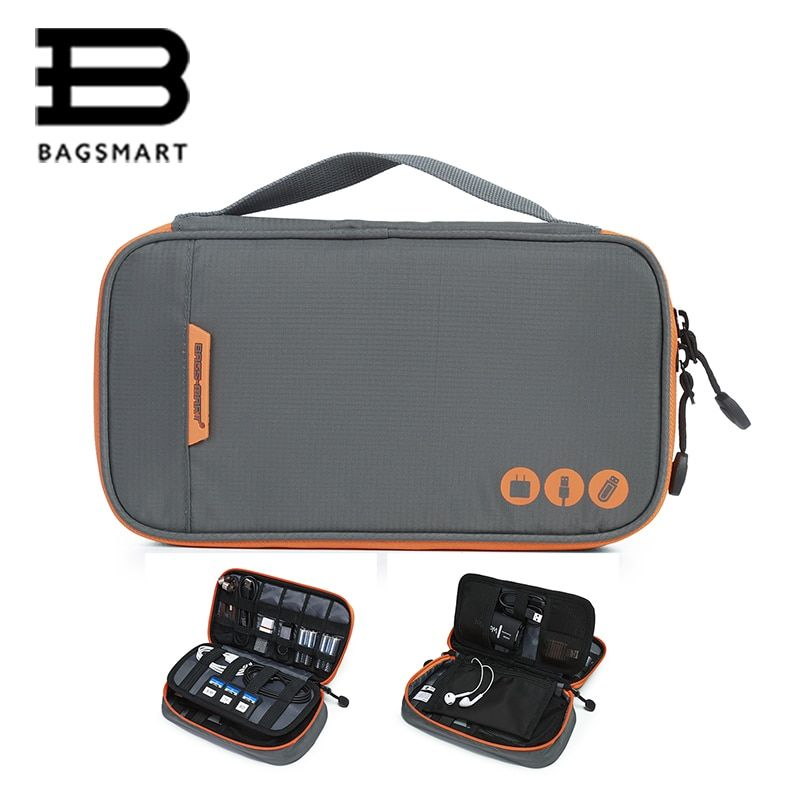 BAGSMART Travel Accessories Electronic Portable Bags For Phone Data Cuble SD Card USB <font><b>Cable</b></font> Earphone Phone Charger