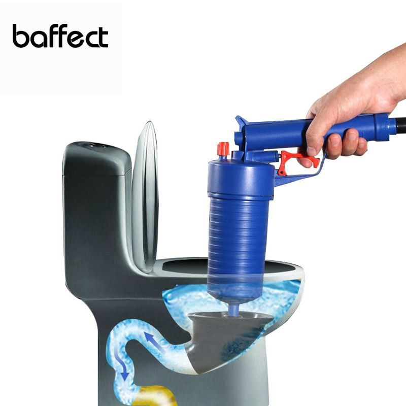 Upgrade Home High Pressure Air Drain Blaster Pump Plunger Sink Pipe Clog Remover Toilets Bathroom Kitchen Cleaner Kit