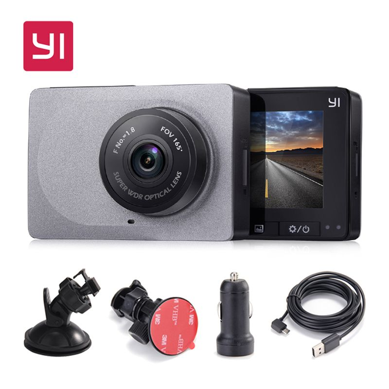 [International Edition] Xiaomi YI Smart Car DVR 165 Degree 1080P <font><b>60fps</b></font> Car Detector 2.7 Dash Camera ADAS Safe Reminder Dashcam