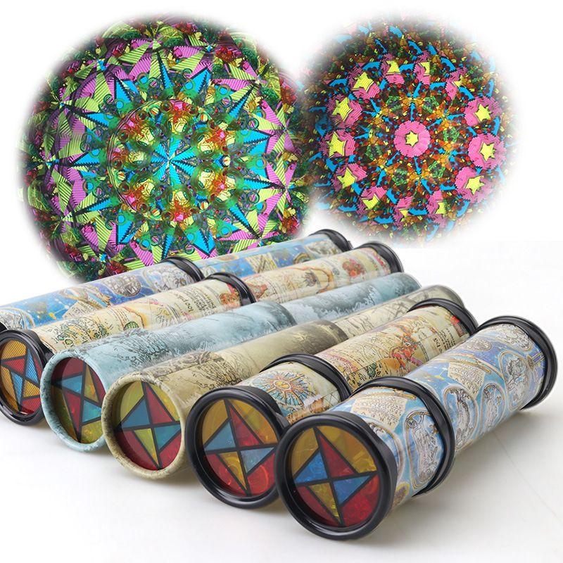 Évolutive Rotation Kaléidoscope 30 cm Magique Changeante Réglable Fantaisie Monde Multicolore Jouets Pour Enfants L'autisme Enfant Puzzle Jouet