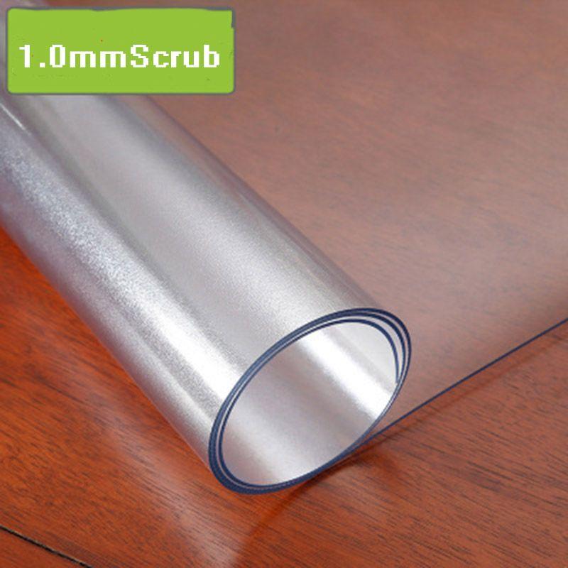 Nappe en PVC nappe transparente imperméable à l'eau avec motif de cuisine nappe à l'huile nappe en verre doux 1.0mm