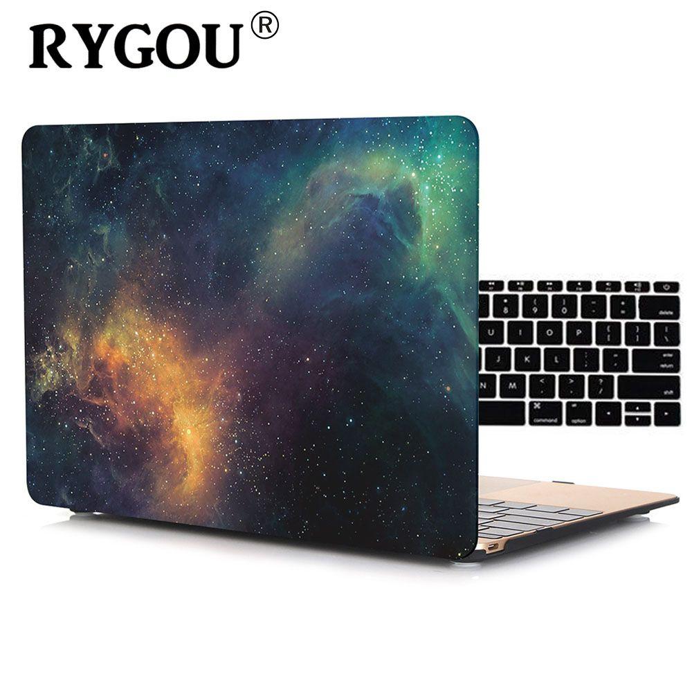 RYGOU Decal Marbre Dur Cas Pour Macbook Air 13 Avec Couvercle Du Clavier Pour MacBook Air Pro Retina 11 12 13 15 pouce Sac D'ordinateur Portable Cas