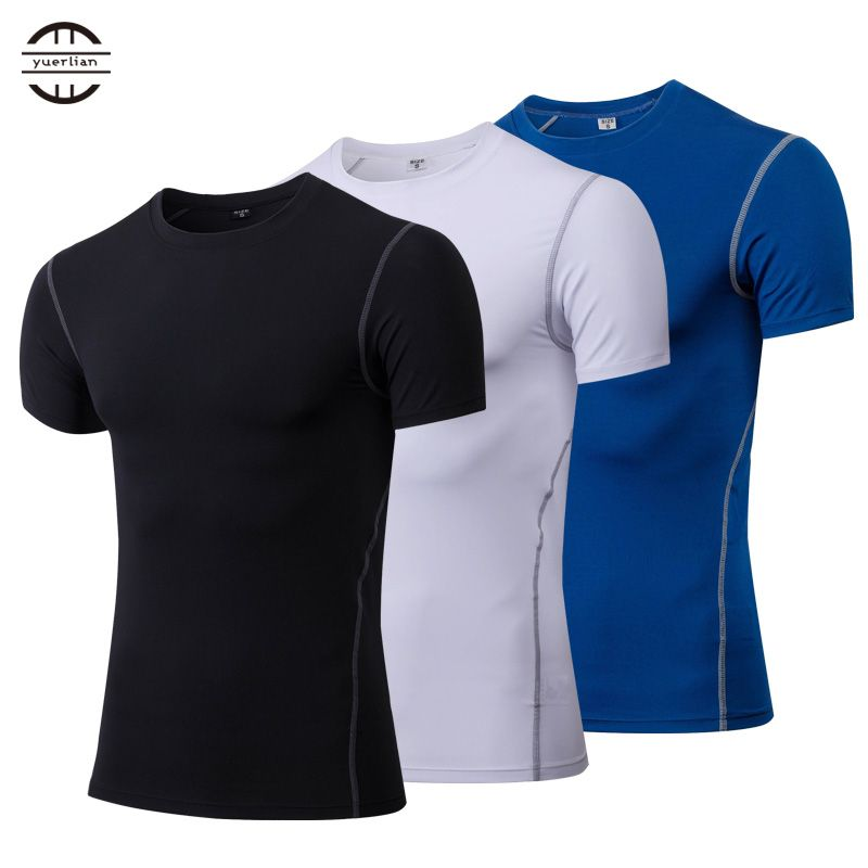 Chaud séchage rapide Sport chemise homme course Fitness collants rashgard football basket maillot Gym Demix Sportswear compresser T-shirt