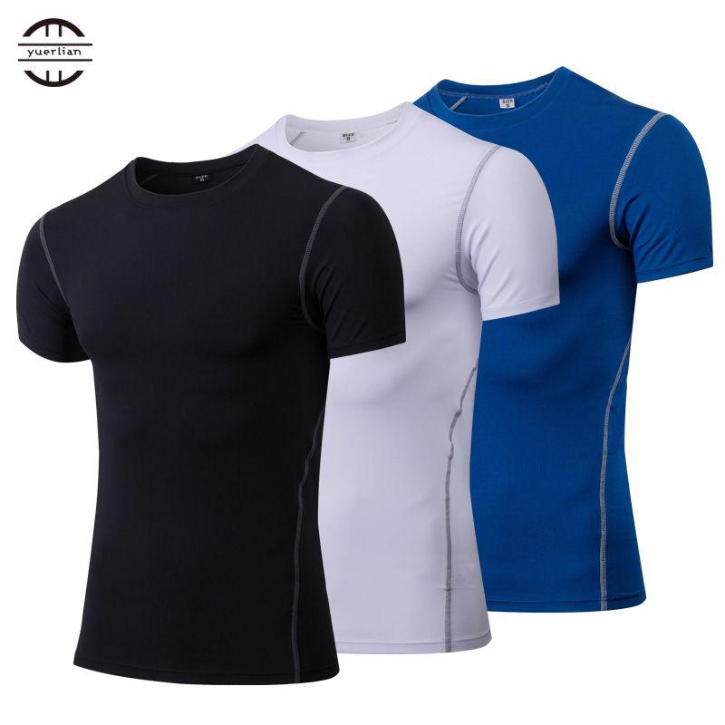 Hot Quick Dry Compression Sport Shirt men Running Fitness t Shirt Tight rashgard Soccer Basketball Jersey Gym Demix Sportswear