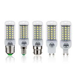 1 pcs LED Lampe E27 E14 B22 G9 GU10 Lumière AC 220 V SMD 5730 Lustre Spotlight 24 36 48 56 69 72 Led Ampoule de Maïs Accueil décoration