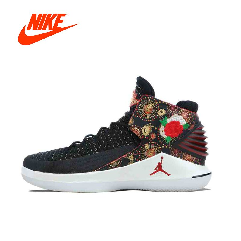 Original New Arrival Authentic NIKE AIR JORDAN XXXII PF CNY AJ32 Mens Basketball Shoes Sneakers Sport Outdoor Good Quality