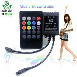 New 20 Key Music IR Controller Black Sound Sensor Remote For RGB LED Strip High Quality