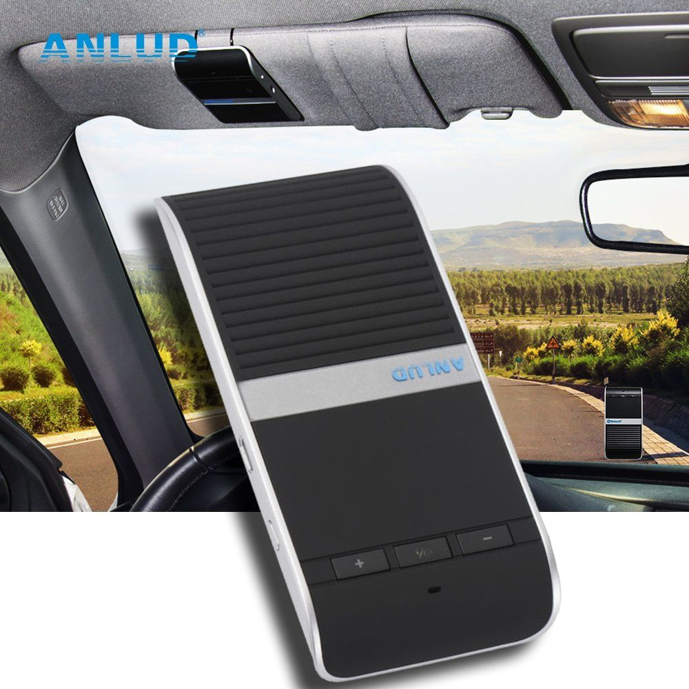 Sunvisor Wireless Bluetooth Handsfree Car Kit Speakerphone Audio Music Speaker Transmitter For iPhone Samsung Xiaomi Smartphones