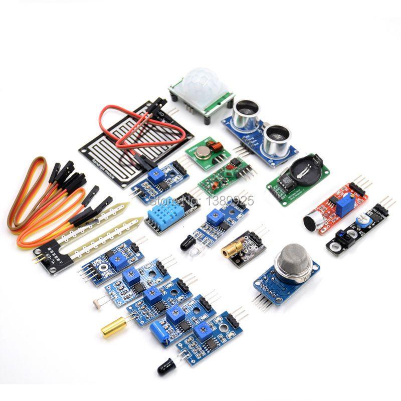 16 pcs/lot Raspberry Pi 3 et Raspberry Pi 2 Modèle B le capteur module paquet 16 sortes de capteur Livraison gratuite