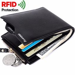 RFID Theft Protec Coin Bag zipper men wallets famous brand mens wallet male money purses Wallets  New Design  RFID Men Wallet