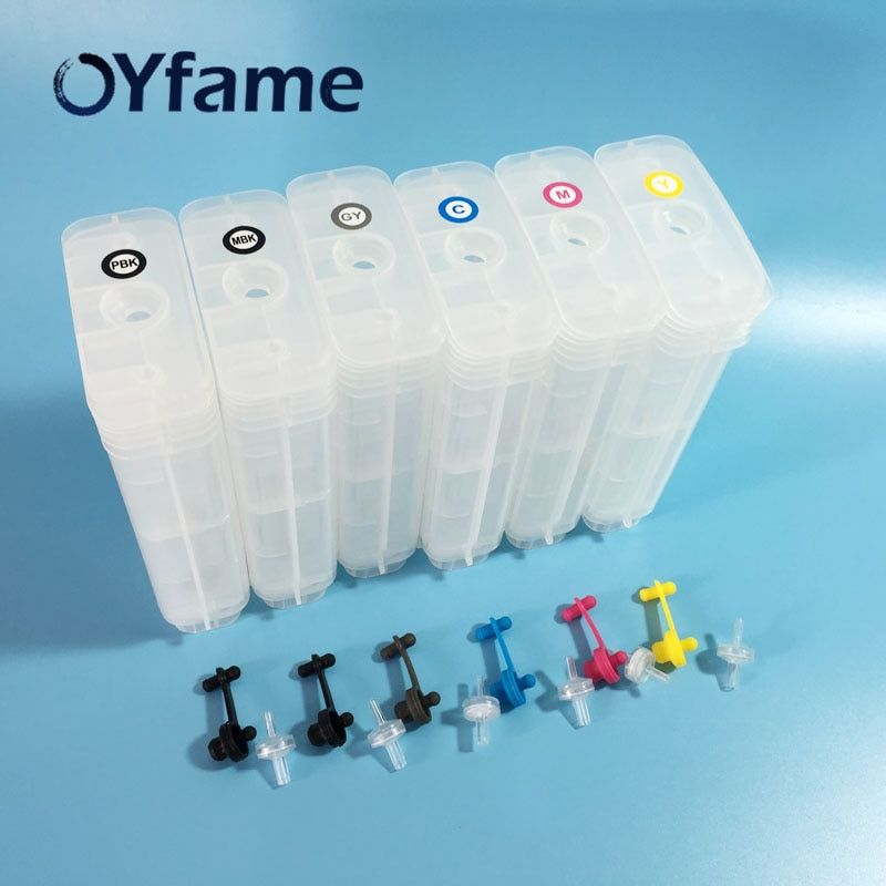 OYfame 72 Cartridge For HP 72 130ML Empty Refillable Ink Cartridge With Reset Chip For HP T610 T1100 T1120 T1200 T1300 T2300